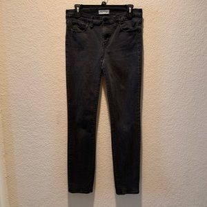 "Madewell ""Alley Straight"" black stonewashed jeans"